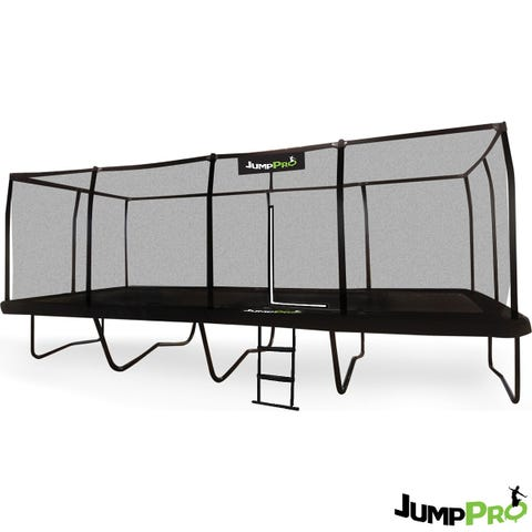 JumpPRO 23ft x 10ft JumpPRO  Black Rectangular Trampoline & Professional Installation